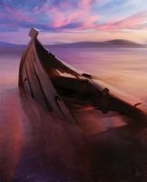 A sunken boat by e-will