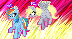 Rainbow Dash and Derpy Hooves by Hazel-Kat