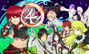 Elsword 4th Anniversary by Anomynousness