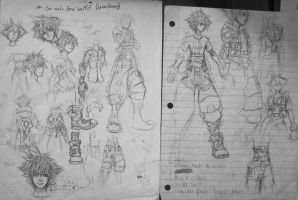 KH3 Fan-made Sora Concept Art (Pages 1 and 2) by d-AspiringAmeture-b