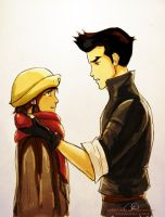 Korra and Mako's Scarf by ChristyTortland