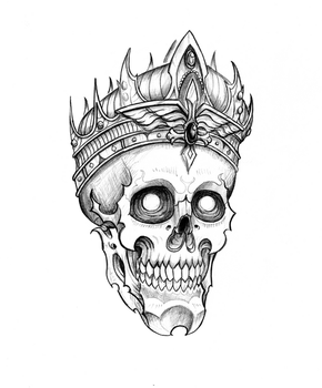 Skull King Tattoo - Neotrad by Fgore