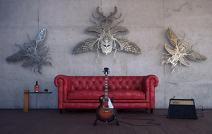 Practice Room Gibson Les Paul Cinema 4D Vray by botshow