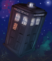 The Tardis by Akadafeathers