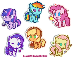 Mane Six by neooki23