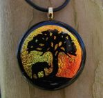 African Sunset Fused Glass by FusedElegance