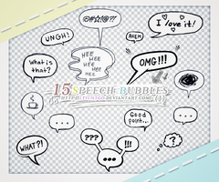 Speech Bubbles PNGS (1) by lyiuntgo