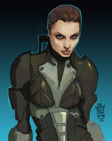 Commander Angelina Shepard  - Mass Effect by ledomo