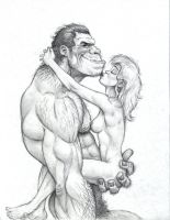 Caveboy and Girl 3 by JIM-SWEET