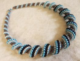 Morpho chunky Necklace by sweetdream20