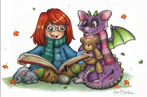 Reading Buddy by Anne-O