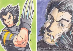Wolverine Sketch cards by JoeOiii