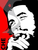 Che Guevara red by dnobody