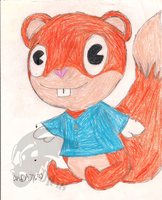 Conker the Squirrel in Happy Tree Friends' Style by DragonA7X