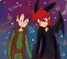 rc9gn: Happy Halloween-ish thing! by arrival-layne