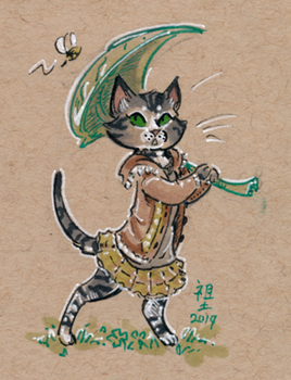 draw your cat in a dress day by not-fun