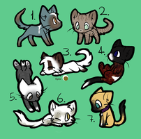 Free Warrior Cat Adoptables! CLOSED! by Icepetal21