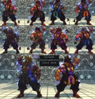 USFIV Oni Akuma 10 color pack by monkeygigabuster
