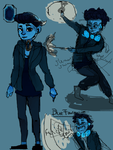 Blue Tourmaline by Popfartss