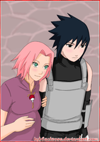 SasuSaku new family Uchiha by byBlackRose