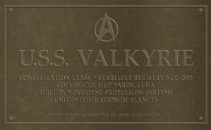 USS Valkyrie Plaque Hi-res by VSFX
