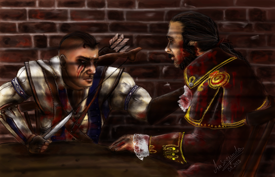 Assassin's Creed III -  Charles Lee last moment by Anaeraa