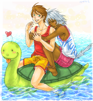 turtle sailing by chibicomadreja