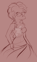 Lisa got a New Dress by MissFuturama