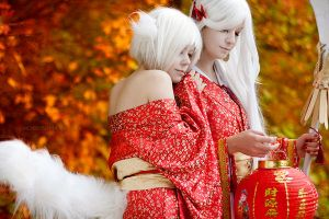 Kitsune - demon foxes by KandaDream