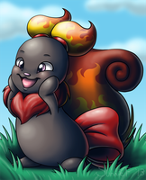 Neopets - Fire Usul by SunnieF