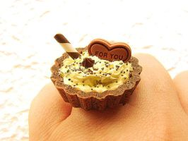 Banana Ice Cream Candy Ring by souzoucreations