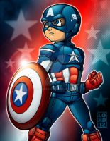 Speed Vector - Lil Captain America by lordmesa