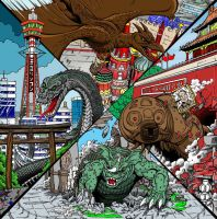 Destroy All Monsters 1 by kaijuverse