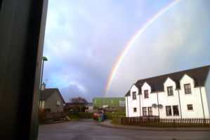 Rainbow Across The Road From Front Door by merearthling