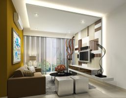 Living area option 2 by Shansified