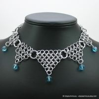Blue Dagger's Point Necklace by Utopia-Armoury