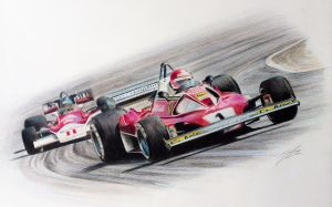 Hunt vs Lauda 1976 (McLaren M26 vs Ferrari 312 T2) by JamesWoodhead