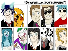 Can You Guess My Favorite Characters_MEME. by StreetArt1255
