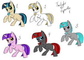 Twilight Sparkle 1 point adoptables 1 .:OPEN:. by Story-Story
