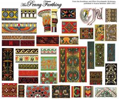 Russian Pattern Collage Sheet2 by MissPennyFarthing