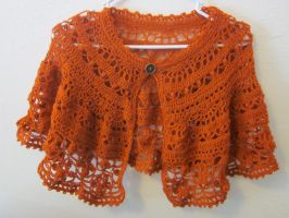 Lacy Autumn Capelet by PamGabriel
