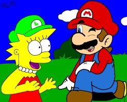 Lisa and Mario by marioluigibroDX