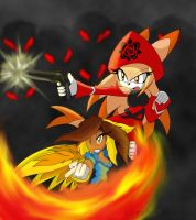 .:CE:. Fighting Together by silvah-princess