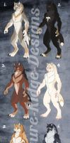 Natural Werewolf Adoptables: CLOSED! by Nature-Ridge-Adopts