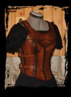 leather cuirass by Lagueuse