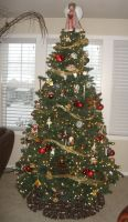 Christmas Tree 3 by GreenEyezz-stock