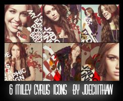6 Miley Cyrus Icons by Joeciiithaw