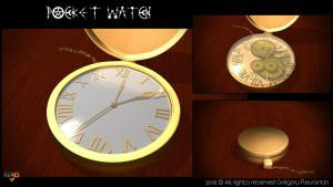 Pocket Watch by Mixer3d