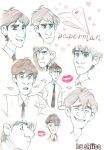 Paperman face studies by Shiita