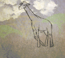 Kinda Sorta Rotoscoped Giraffe by Kafae-Latte